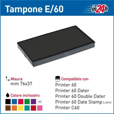 Tampone Colop E/60 mm 76x37
