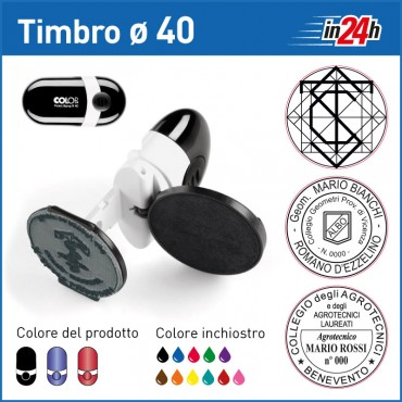 Timbro Tascabile Colop Pocket Stamp R40