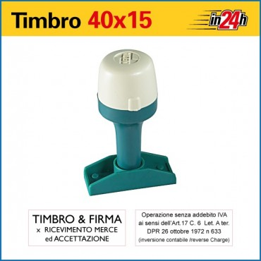 Timbro Manuale - mm 40x15