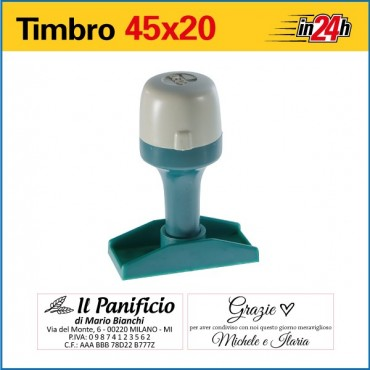 Timbro Manuale - mm 45x20
