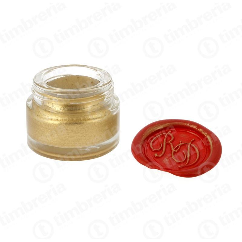 Crema oro per ceralacca con sigillo