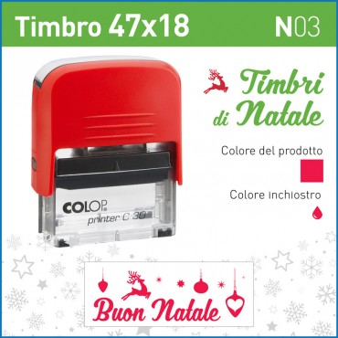 Timbro Buon Natale stelle N03