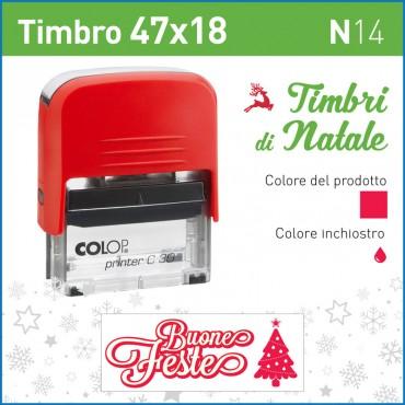 Timbro Buone Feste N14