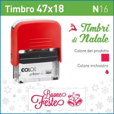 Timbro Buone Feste N16