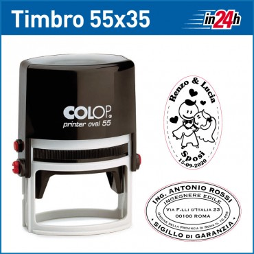 Timbro Colop Printer O55 - piastra mm 55x35