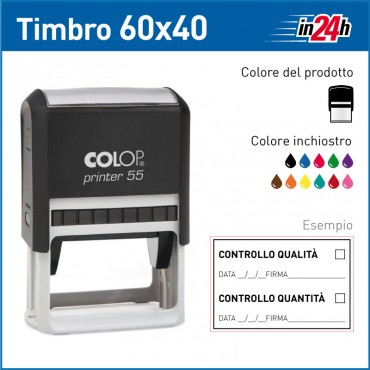 Timbro Colop Printer 55 - mm 60x40