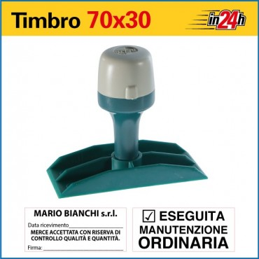 Timbro Manuale - mm 70x30