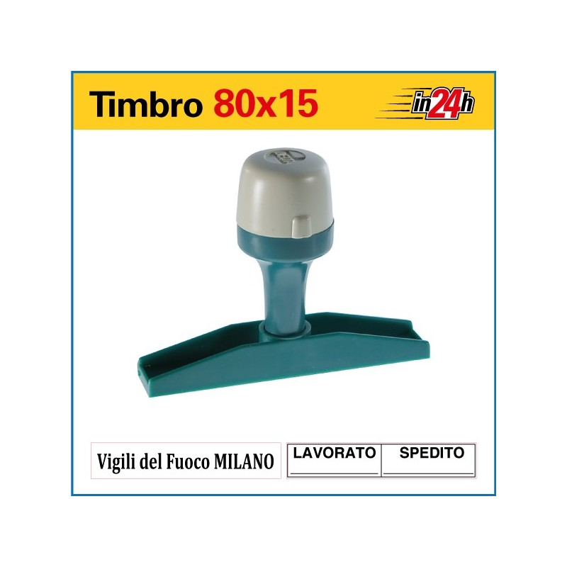 Timbro Manuale - mm 80x15