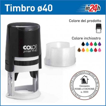 Timbro Colop Printer R40 - ø mm 40