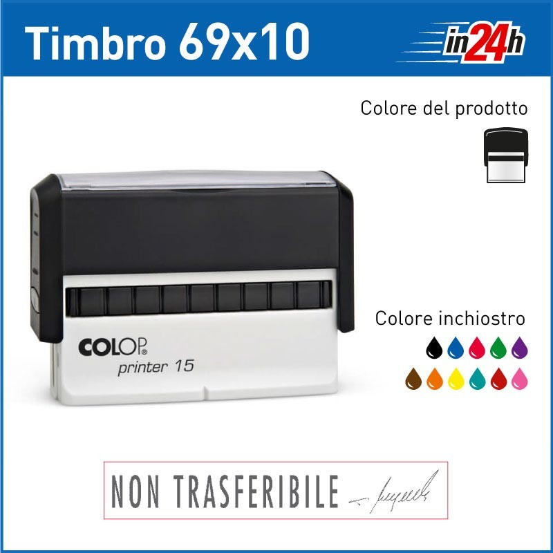 Timbro Colop Printer 15 - mm 69x10