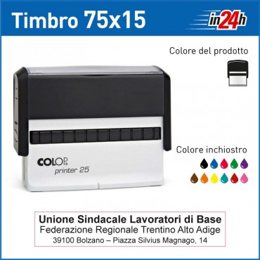 Timbro Colop Printer 25 - mm 75x15