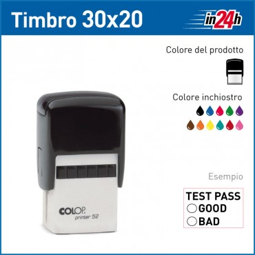 Timbro Colop Printer 52 - mm 30x20