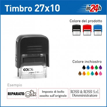 Timbro Colop Printer C10 - mm 27x10