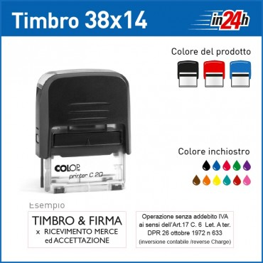 Timbro Colop P20 - mm 38x14