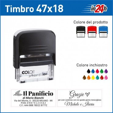 Timbro Colop Printer C30 mm 47x18
