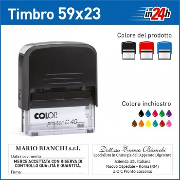 Timbro Colop Printer C40 - mm 59x23