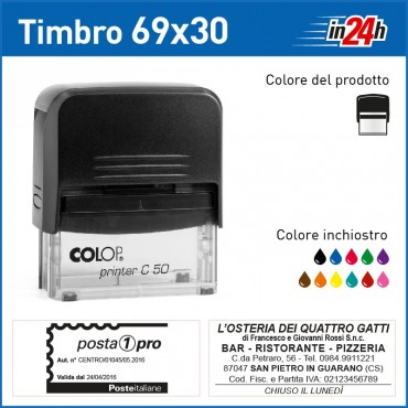 Timbro Colop Printer C50 - mm 69x30