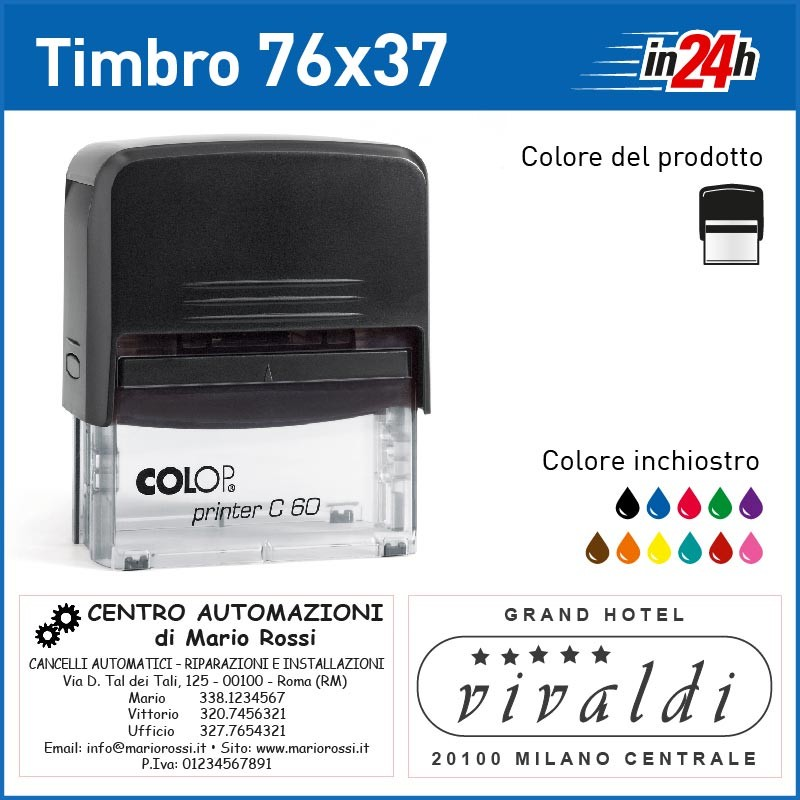 Timbro Colop P60 - mm 76x37