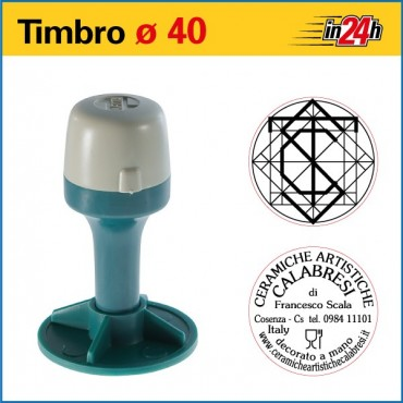 Timbro Manuale - ø mm 40