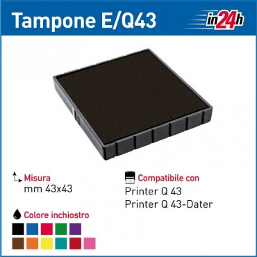 Tampone Colop E/Q43 mm 43x43