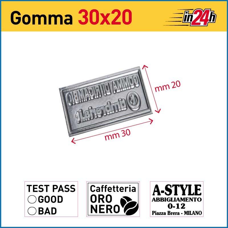 Gomma di Ricambio mm 30x20