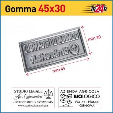 Gomma di Ricambio mm 45x30