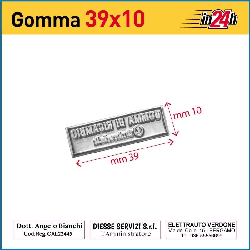 Gomma di Ricambio mm 39x10