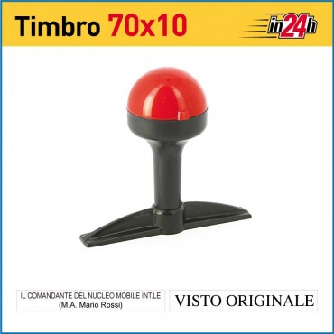Timbro Manuale - mm 70x10