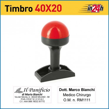 Timbro Manuale - mm 40x20