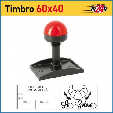 Timbro Manuale - mm 60x40