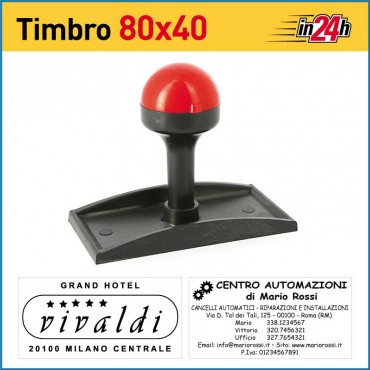Timbro Manuale - mm 80x40