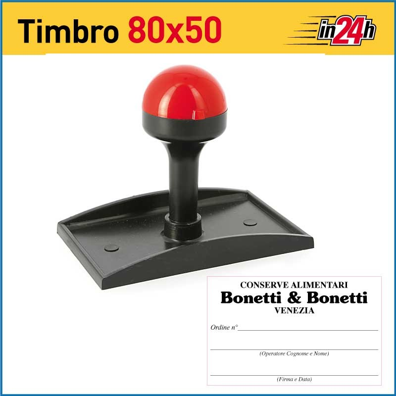 Timbro Manuale - mm 80x50