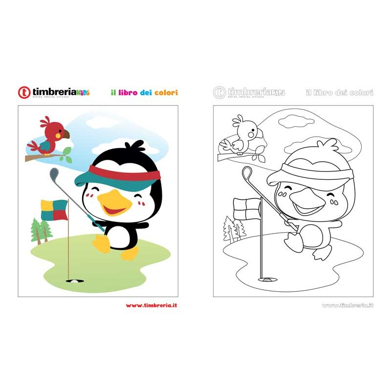disegno da colorare pinguino TimbreriaKids 9