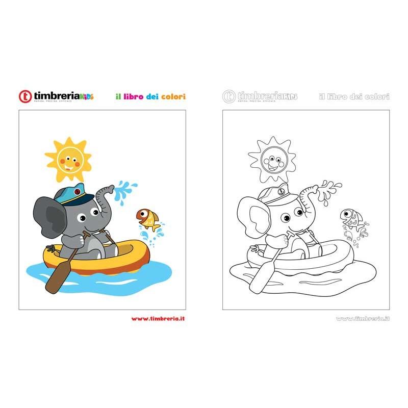 disegno da colorare elefante TimbreriaKids 10