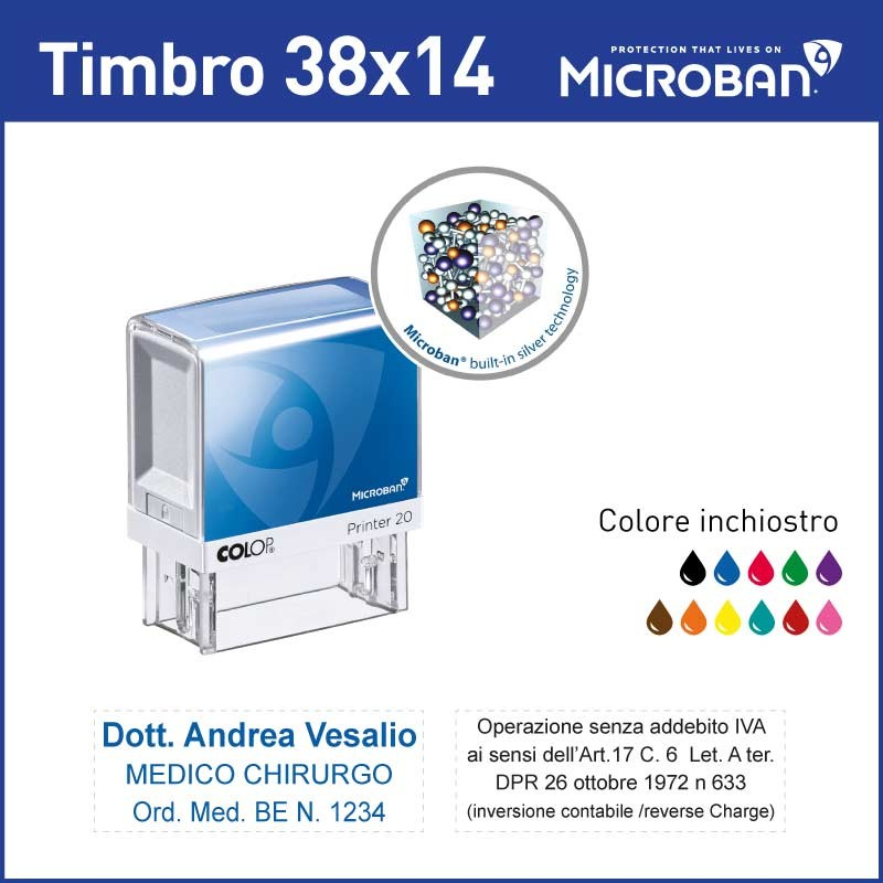 Colop printer 20 Microban - mm 47x18