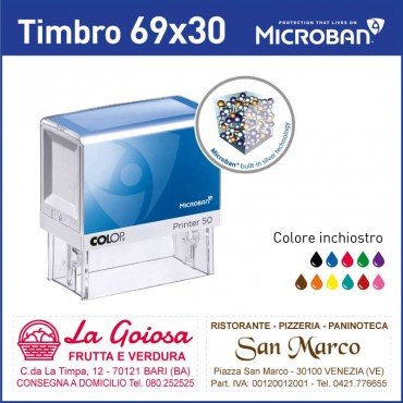 Colop Microban 50 - mm 69x30