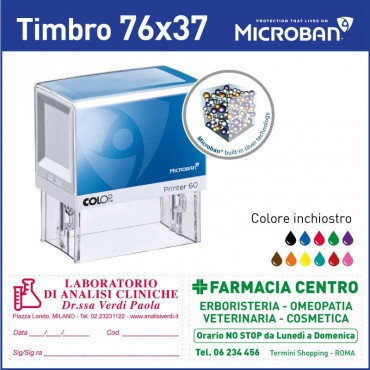 Colop Microban 60 - mm 76x37