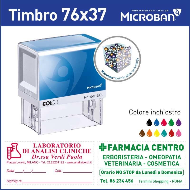 Colop Microban 60 - mm 76x37