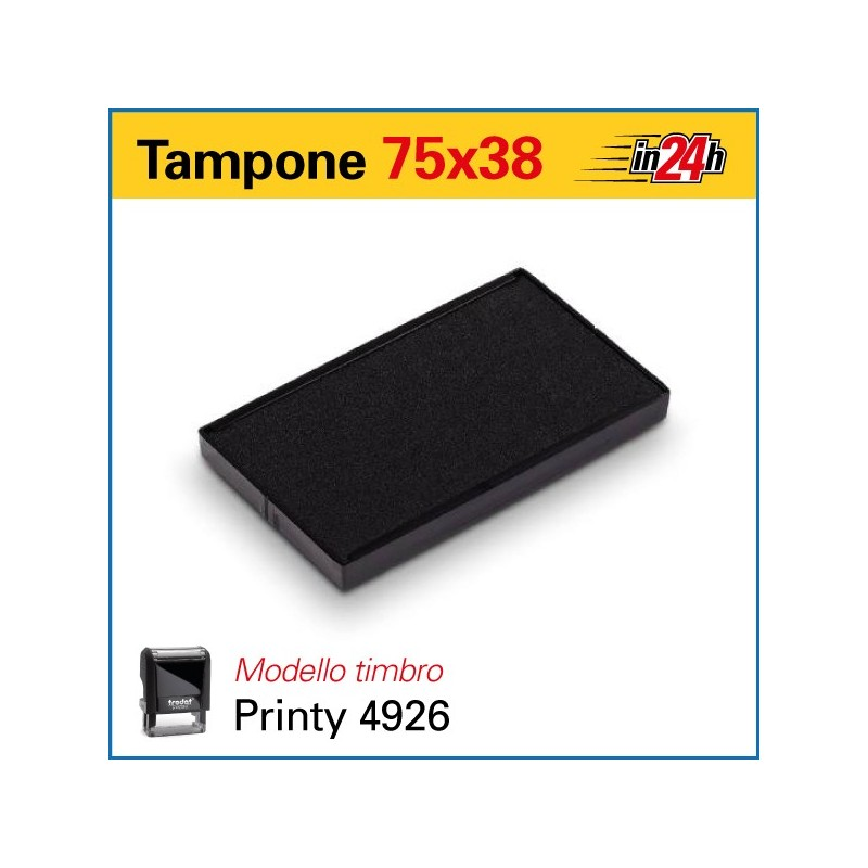 Tampone 6/4926 mm 75x38
