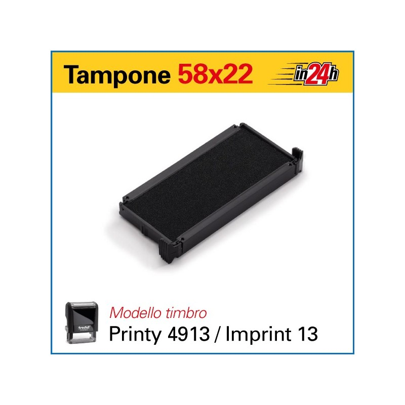 Tampone 6/4913 mm 58x22