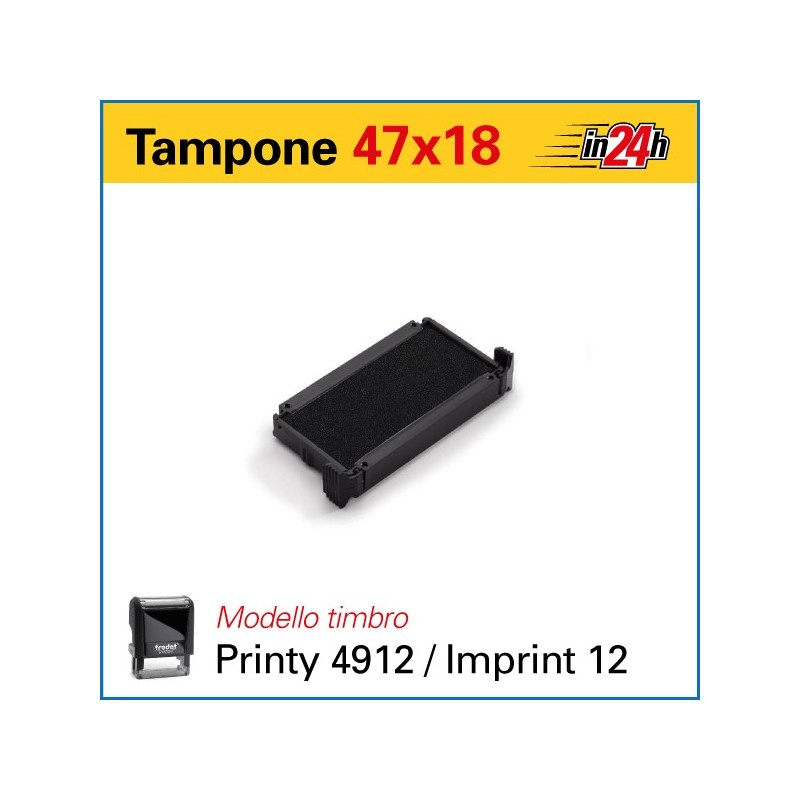 Tampone 6/4912 mm 47x18