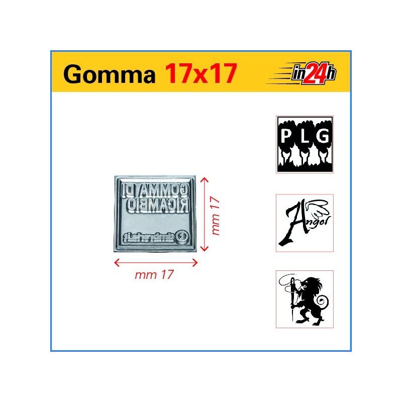 Gomma di Ricambio mm 17x17