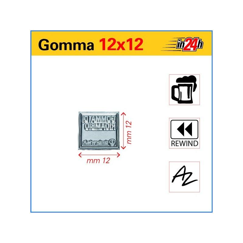 Gomma di Ricambio mm 12x12