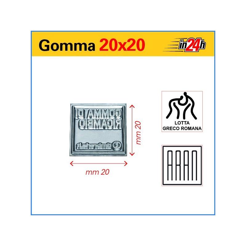 Gomma di Ricambio mm 20x20