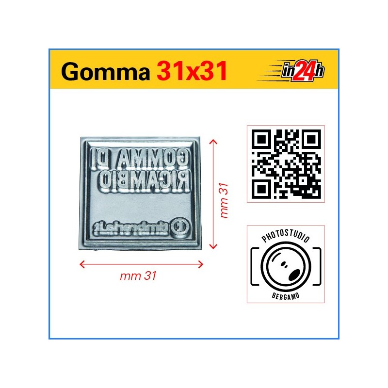 Gomma di Ricambio mm 31x31