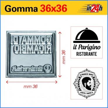 Gomma di Ricambio mm 36x36