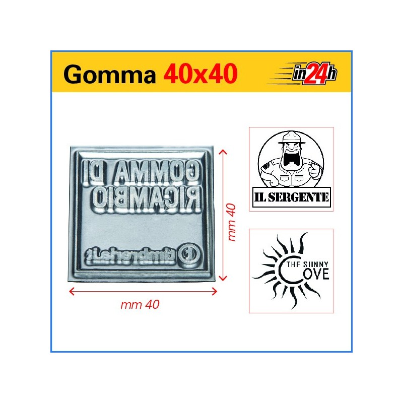 Gomma di Ricambio mm 40x40