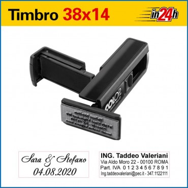 Timbro Tascabile Pocket Stamp Plus 20 - mm 38x14