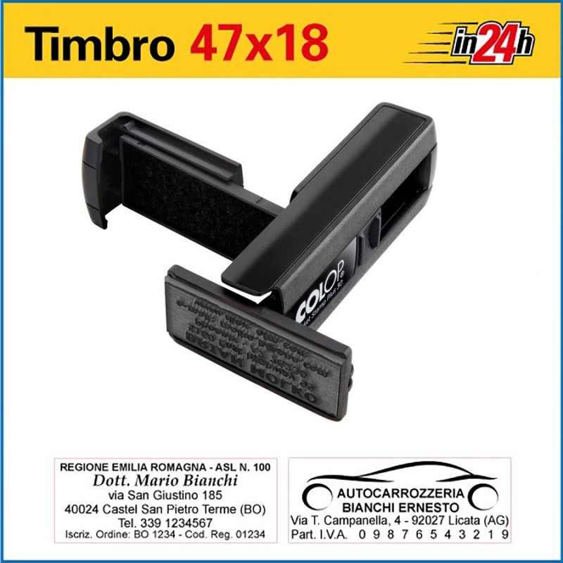 Timbro Tascabile Colop Pocket Plus 30 - mm 47x18