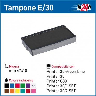 Tampone Colop E/30 mm 47x18